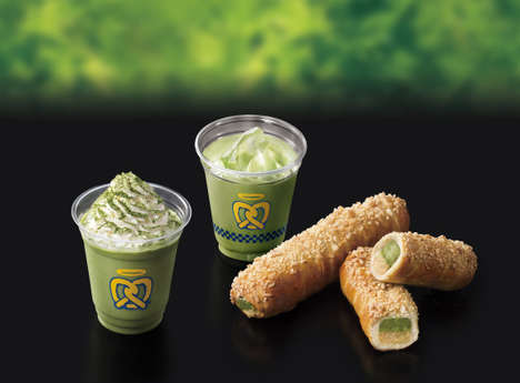 Scrumptious Matcha Pretzel Desserts - Auntie Anne's Will Offer Matcha Tea-Based Sweets and Treats