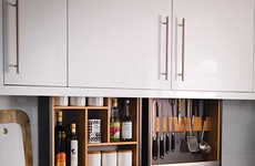 Hidden Kitchen Storage Solutions - The 'Cabinet Plus' System Makes Use of Waste Storage Space