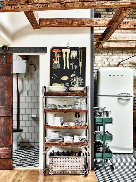Rustic Apartment Renovations - This Swedish Home Marries Vintage and Modern Elements