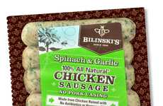All-Chicken Sausages - These Antibiotic-Free Natural Sausages Boast No Pork Casings or Preservatives