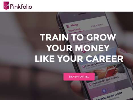 Female-Focused Finance Apps - 'Pinkfolio' is a Personal Wealth App Targeted at Women