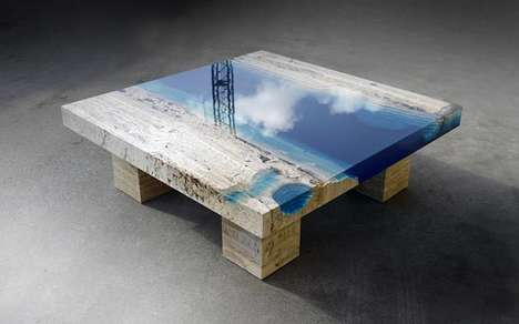 Seascape-Inspired Tables