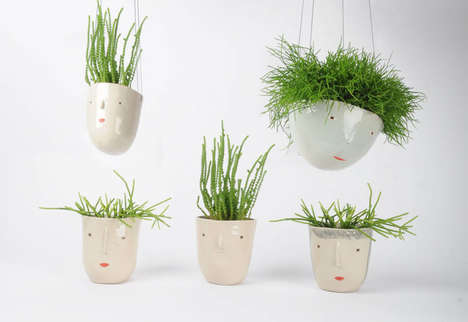 Personified Planter Collections - Rachel Sender's Suspended Planters