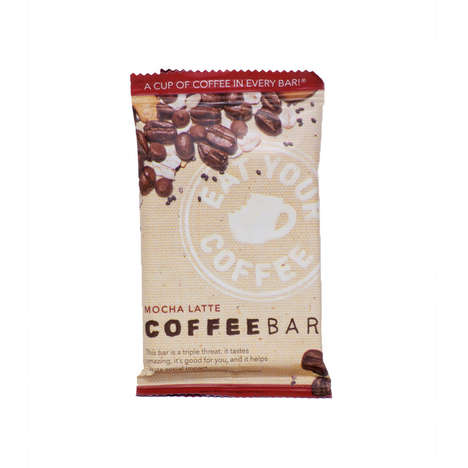 Coffee Snack Bars - CoffeeBar Emulates Macchiato, Latte and Mocha Drinks in Solid Form