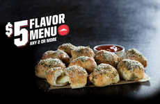 Bite-Size Garlic Knots - The Stuffed Garlic Knots are Now Available as a Side Dish at Pizza Hut