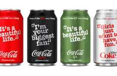 Lyrical Soda Bottles - The New Coca-Cola Bottles Feature Well-Known Song Lyrics