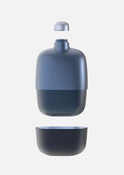 Two-Piece Travel Flasks