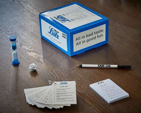 Adult-Oriented Board Games - 'Odious Lists' is an Outrageous Spin on a Classic Party Game