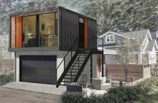 Chic Shipping Container Homes - The Honomobo Shipping Container Living Spaces Satisfy Needs