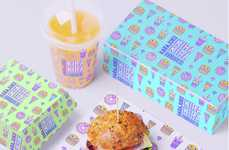 Cartoon-Themed Restaurant Branding - This Harajuku Kira Kira Burger Branding Boasts Playful Elements
