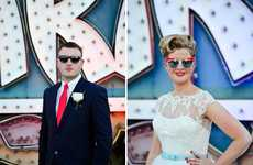 Retro Vegas Weddings - This Pin-Up Wedding is Captured at Sin City's Neon Light Museum