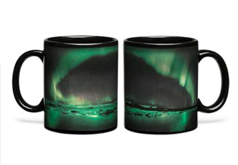 Heat-Activated Dawn Mugs - This Drinking Mug Depicts the Colors of the Aurora Borealis Using Warmth