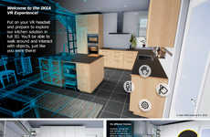 VR Kitchen Simulators - IKEA's Virtual Reality Kitchen Experience Introduces Dream Kitchens