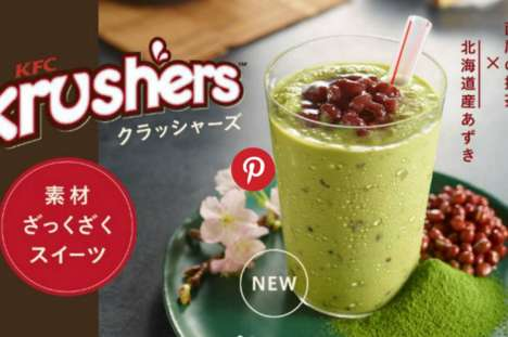 Frozen Matcha Desserts - The KFC Krusher is a Milky Beverage Made With Powdered Matcha