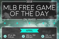 Selective Baseball Streams - The Yahoo Sports Website Will Stream One Baseball Game a Day