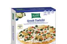 Single-Serve Greek Pizzas - Kashi's Tzatziki Pizza Makes a Satisfying Meal for One