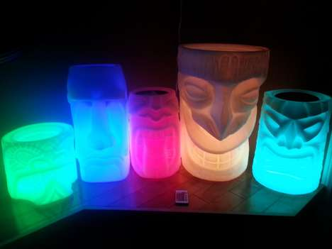 Tropical LED Planters