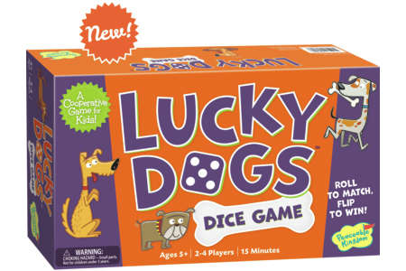 Cooperative Dice Games - The Lucky Dogs Dice Game Encourages Players to Work Together