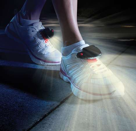 Shoe-Affixed Flashlights