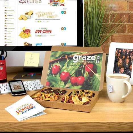 Healthy Snacking Subscriptions - The Graze Food Boxes Let Consumers Select Four Different Nibbles