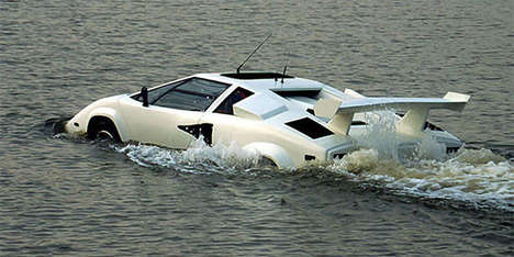 Sporty Amphibious Cars - The Amphiborgini Was Made By SeaRoader Amphibious Vehicles