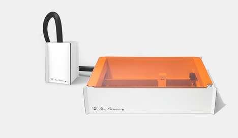 Camera-Integrated Laser Cutters