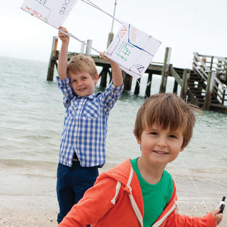 Collaborative Kite Kits - Seedling's Box Kite Kit Can Be Customized by Creative Kids