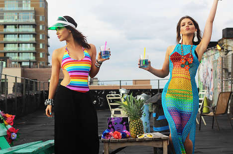 "Hipster Rooftop Editorials - Cult Factory's ""In Rainbows"" Series Features Festival-Ready Fashions"