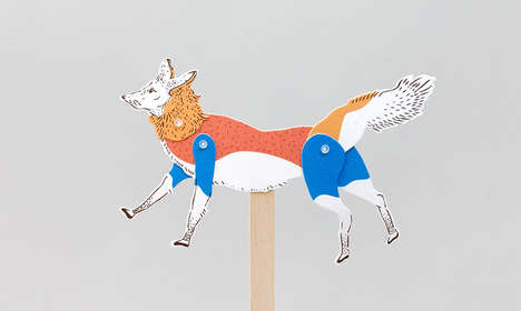 Paper Puppet Kits - These Eco-Friendly Toys are a Modern Take on a Retro Design