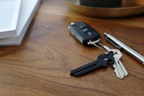 Discreet Knife-Embedded Keys