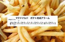 Musical Fry Melodies - The McDonald's French Fry Completion Ding is Transformed into Sheet Music