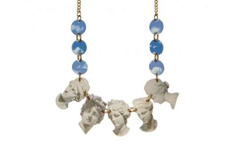Neoclassical Statement Necklaces - This Tatty Devine Necklace Mimics Vintage Architectural Details