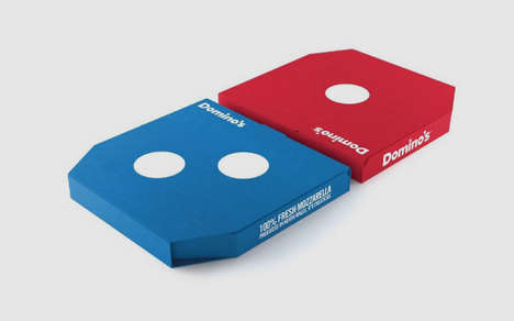 Logo-Inspired Pizza Boxes - This New Pizza Box Concept is Designed to Look Like the Domino's Logo