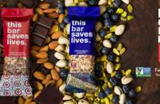 Charitable Snack Bars - 'This Bar Saves Lives' is a Granola Bar That Supports a Good Cause