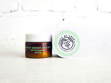 All-Natural Sunscreen Pots - This Sun Protection Product is Sold as 'Friendly Bronze Zinc Stuff'