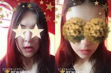 Gold Star Snapchat Lenses - This Starbucks Snapchat Lens Marks the Launch of a New Loyalty System