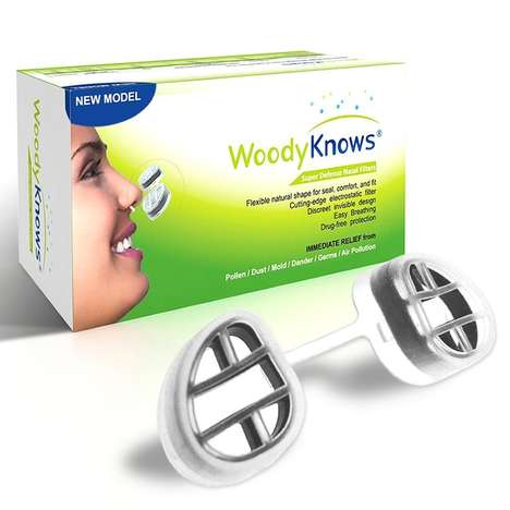 Personal Nasal Filters - WoodyKnows' Wearable Filters Reduce Exposure to Allergens