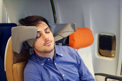 Supportive Airplane Head Rests
