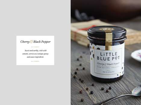 Savory Fruit Spreads - Little Blue Pot's Cherry & Black Pepper Preserve Enhances Savory Meals