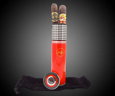 Miniature Travel Cigar Humidors