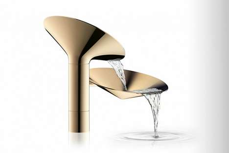 Futuristic Faucets - Axor Design's Waterdream Project Rethinks the Ordinary Bathroom Tap