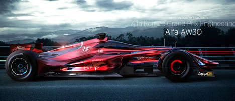 Pointy Formula One Concepts - The Alfa Romeo Grand Prix Looks Extremely Aerodynamic