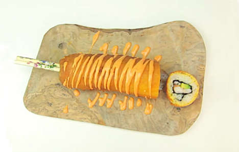 Hybrid Sushi Corndogs - This Elite Foodie Dish Combines Carnival Food with Japanese Cuisine