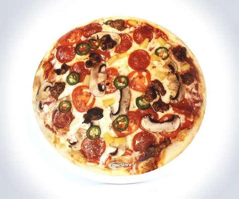 Plastic Pizza Frisbees