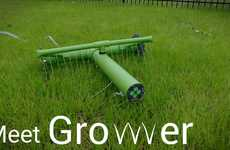 Autonomous Robot Lawn Waterers - The 'Growver' Watering System Detects What Section Needs Watering