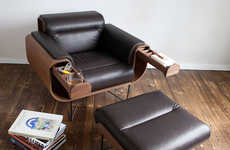 Modern Gentlemen's Chairs - El Purista Boasts an Armchair for Cigar and Whisky Aficionados