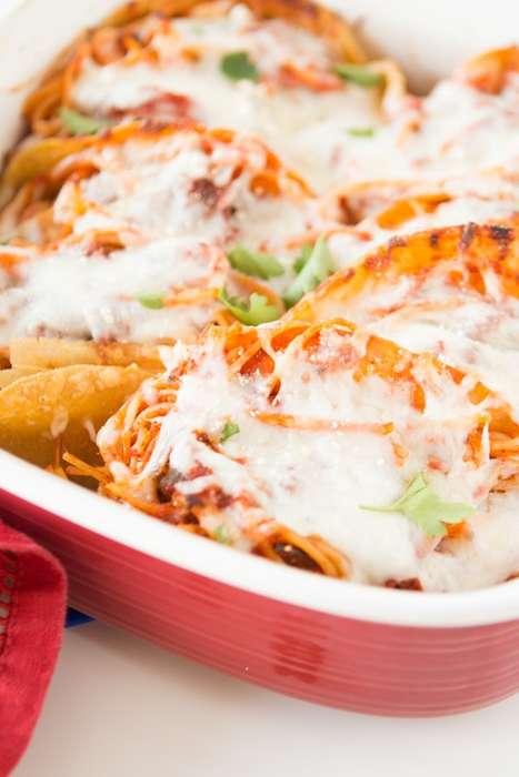 Baked Spaghetti Tacos