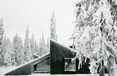 Ski Jump Cabin Designs - The 'Cabin Vindheim' Features a Slanted Roof for Ski Jumps and Sledding
