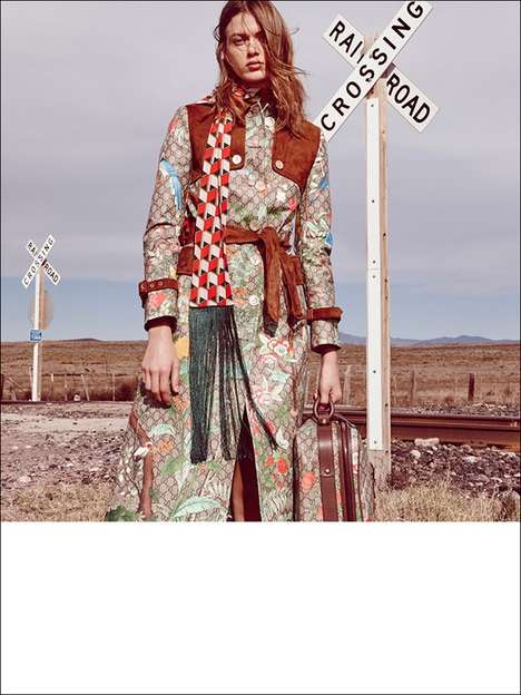 Opulent Roadside Photography - Tess Hellfeuer Explores Marfa, Texas in Marie Claire Italia's Feature