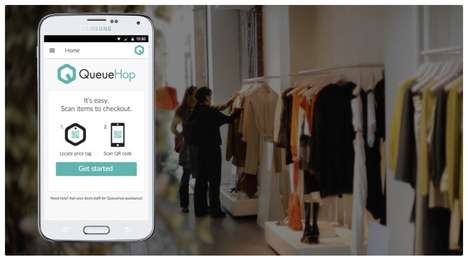 Self-Scanning Shopping Apps - QueueHop Lets You Skip the Line With Smartphone Self-Service Checkout